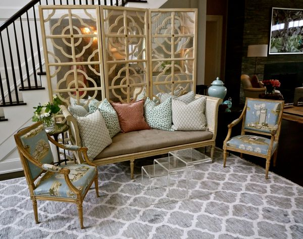 Interior design by The Rinfret Group at the Hampton Designer Showhouse. Photography by Lynn Byrne