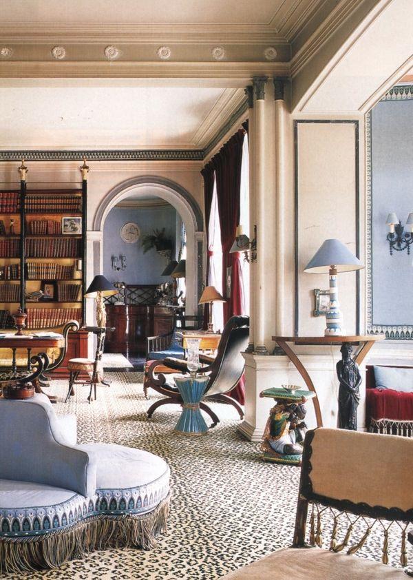 Madeleine Castaing's living room