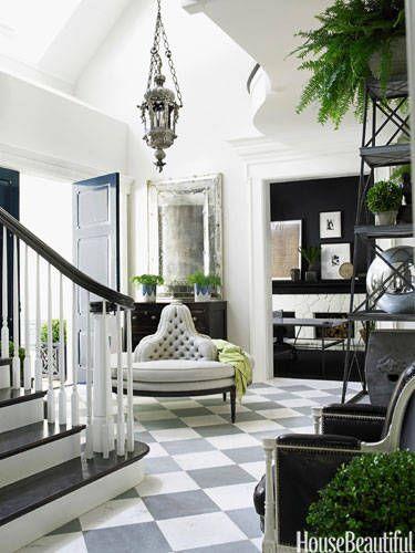 Foyer in designer Windsor Smith's home