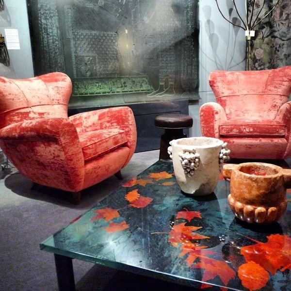 Fontana Arte c.1960 coffee table at Bernd Goeckler's booth at the Salon Art +Design