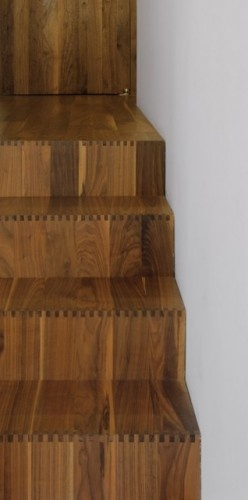 Dovetail joints on stairs.