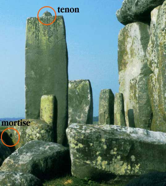 Stonehenge with mortise and tenon construction