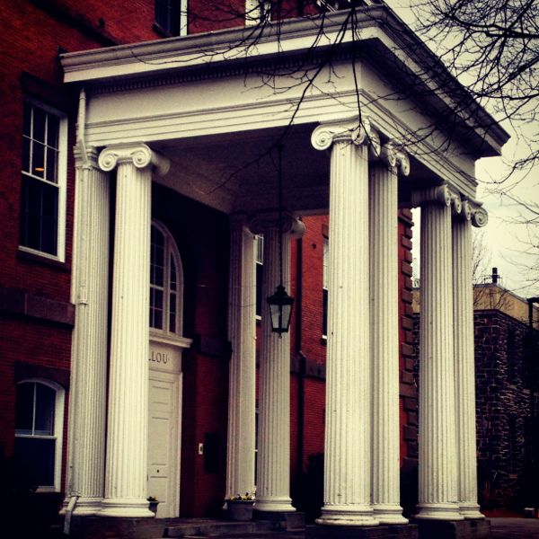 Ionic columns at Tufts University