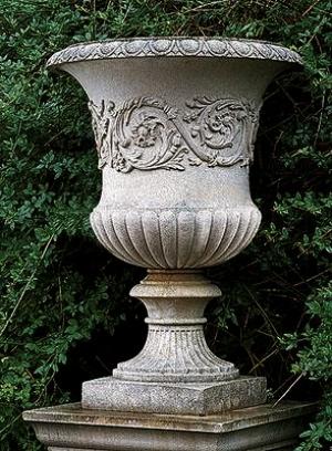 Often seen on urns