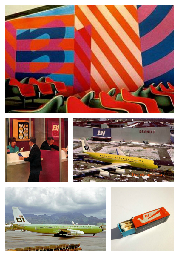 girard braniff airlines collage