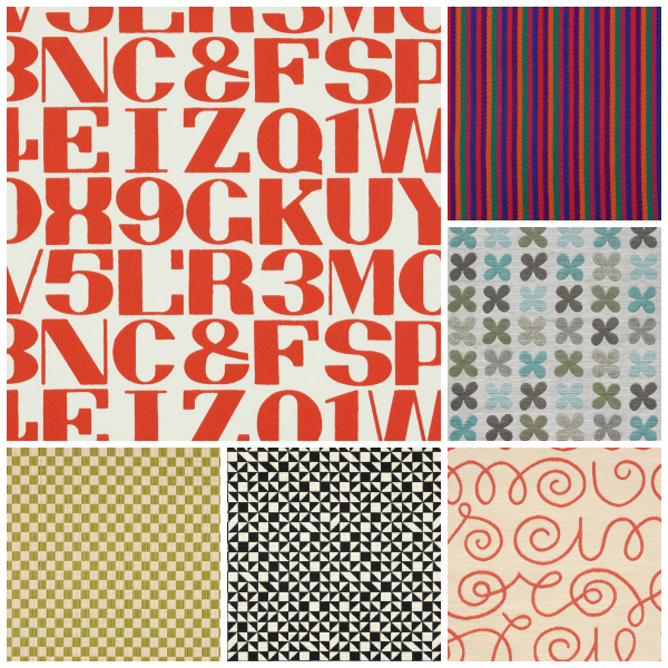 Some of the fabrics by Alexander Girard available at Maharam