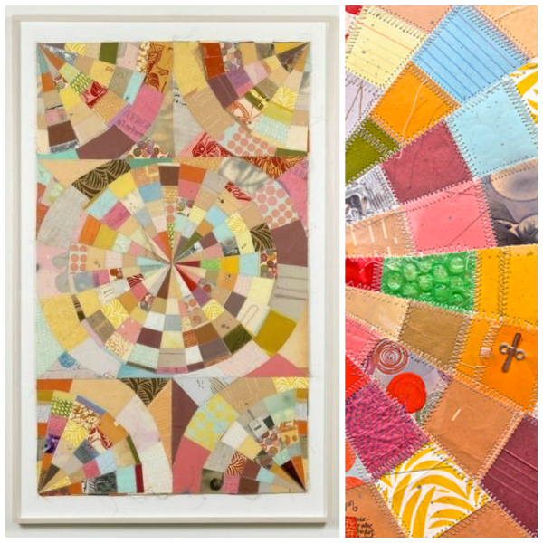 P-Wheel quilt and detail by Thomas Campbell