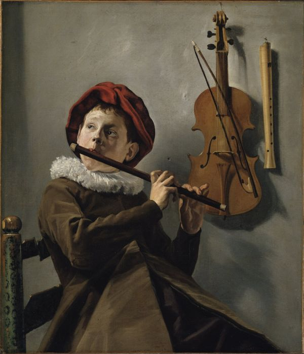"""""""Boy Playing Flute"""" Judith Leyster (1609 to 1660)"""