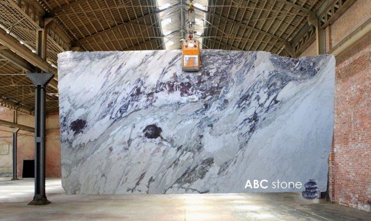 Marble slab at stoneyard