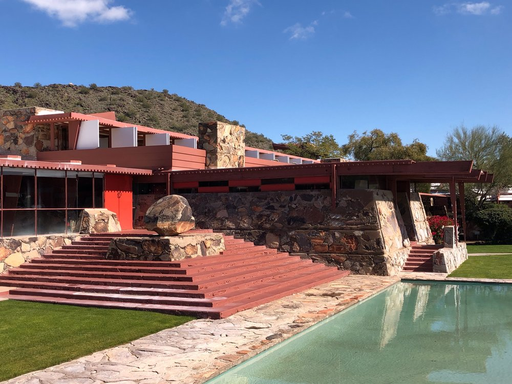 Frank Lloyd Wright. and Taliesen West in Scottsdale Arizona
