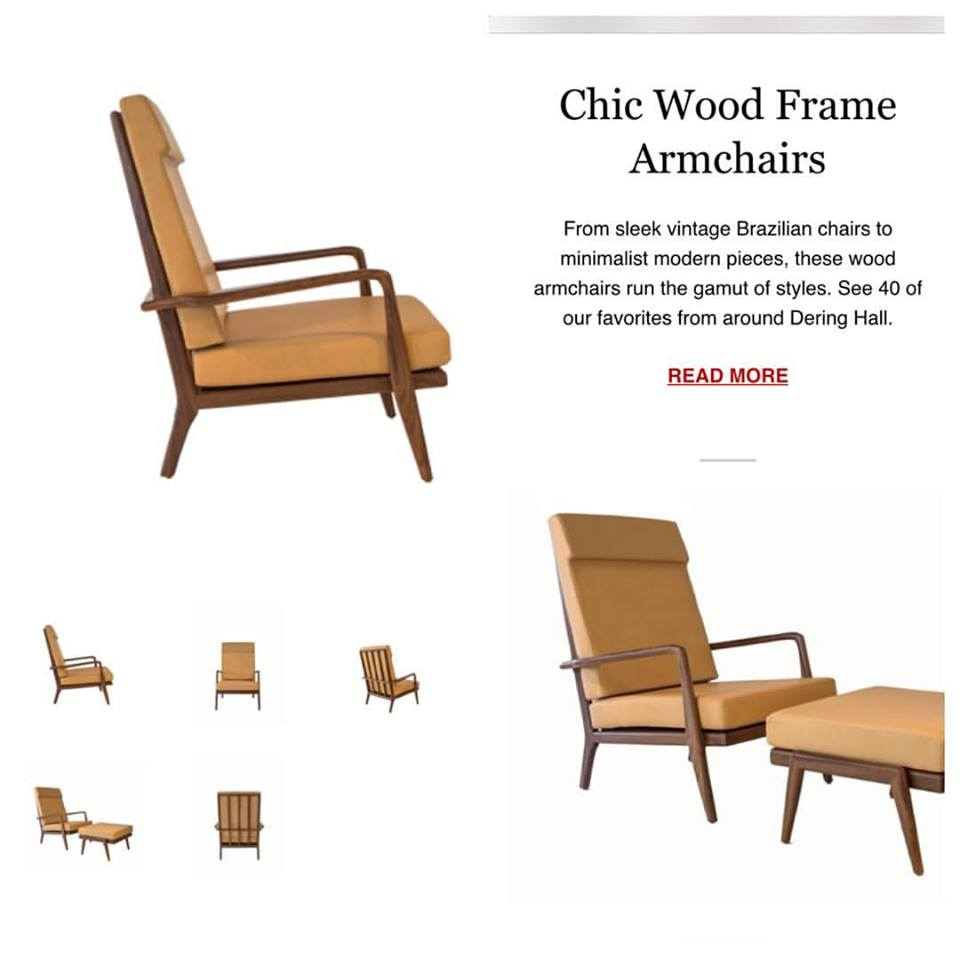 smilow furniture high back rail chair for dering hall