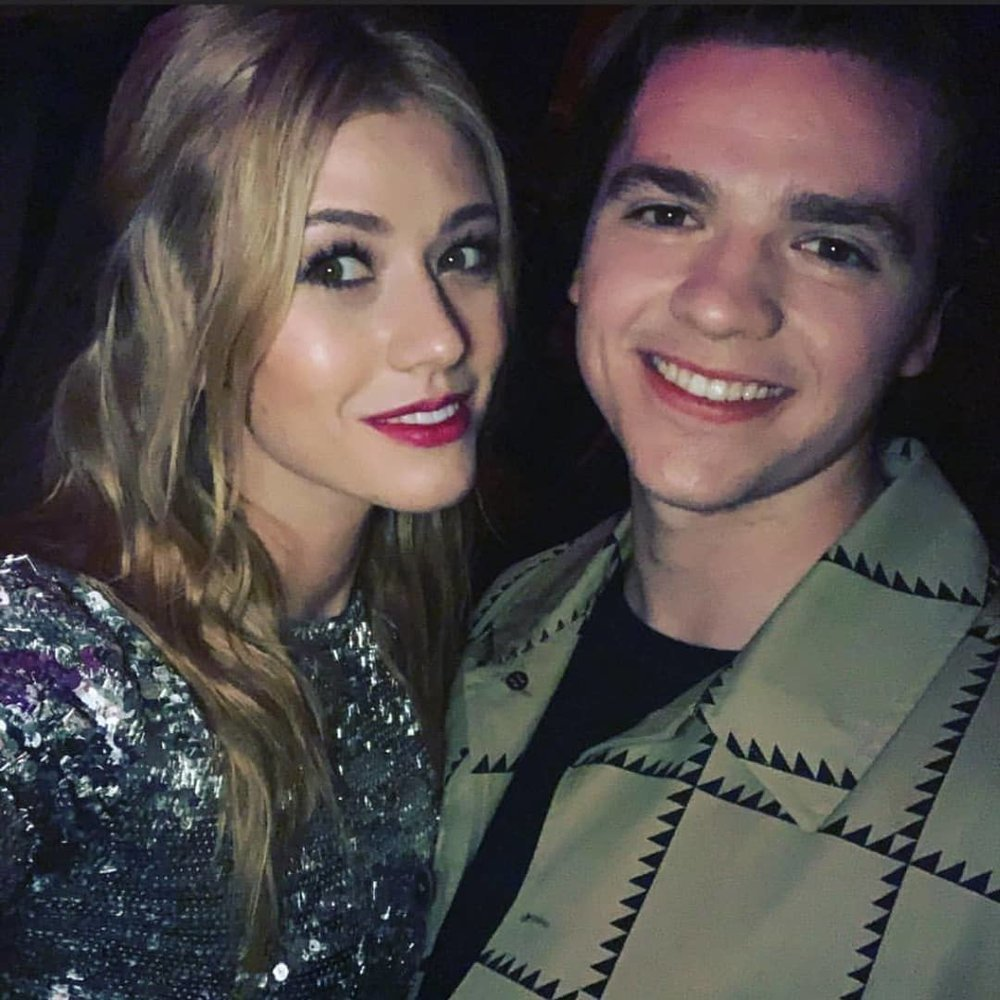 Kat McNamara and Joel Courtney at the Teen Vogue Young Hollywood Party 2019