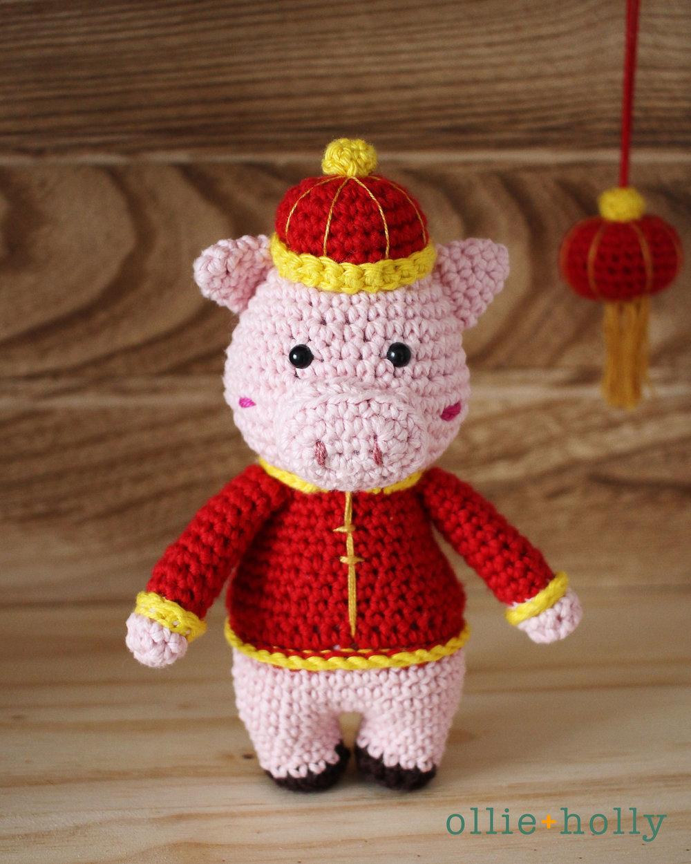 Chinese New Year Pig Amigurumi Crochet Blog Post