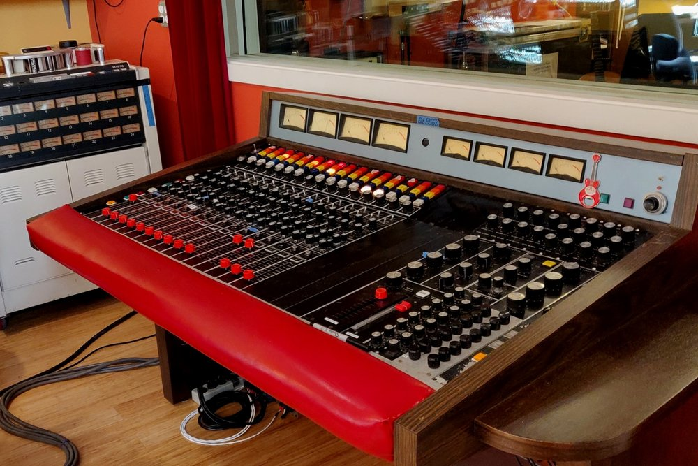 Our Spectra Sonics Console was custom built for Stax Records in 1969 and has since been at Ironwood and Egg Studios in Seattle WA. It is currently undergoing a complete refurbishment with the expert help of Timothy Herzog.