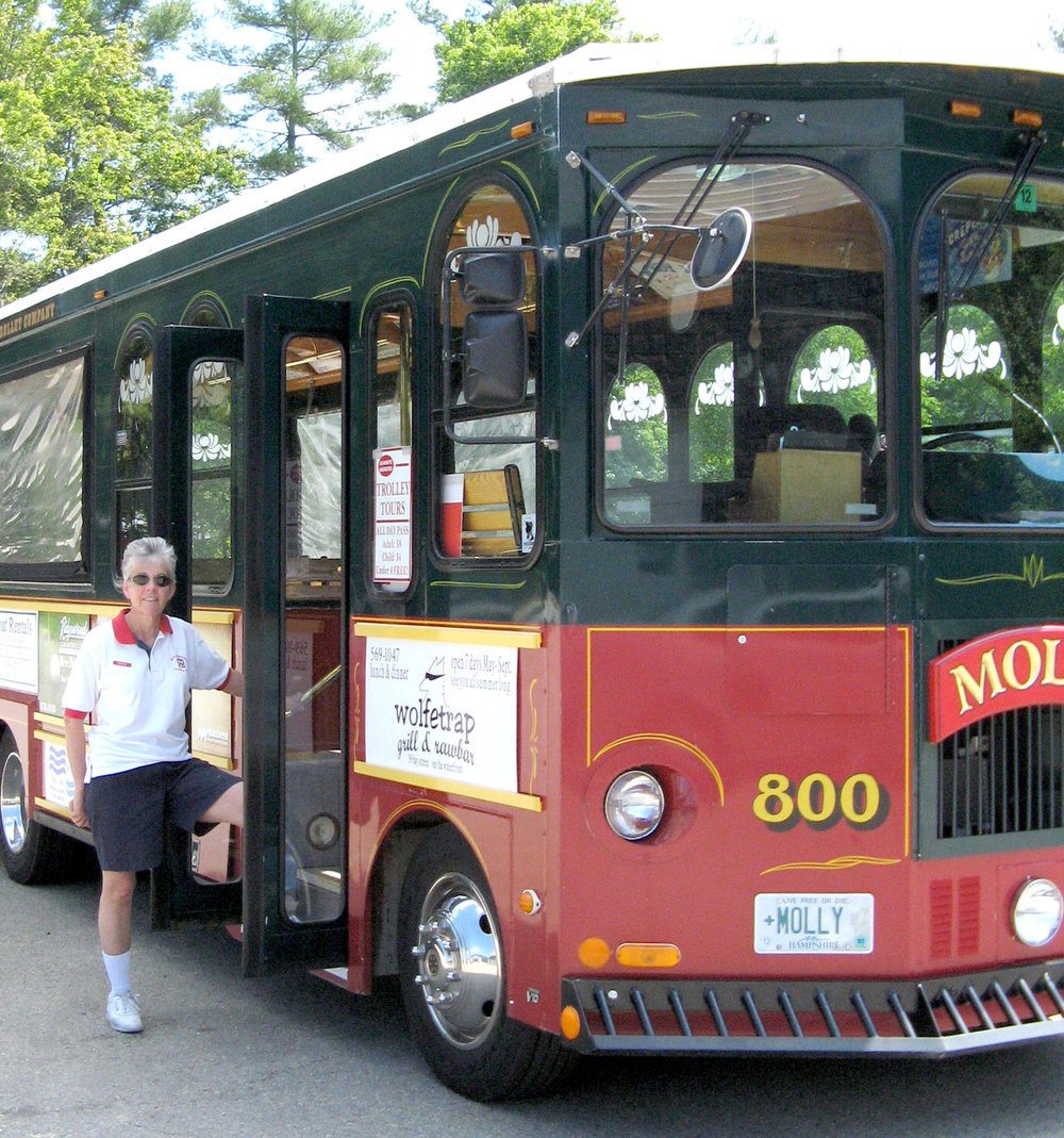 Molly the Trolley with driver/co-owner Kathy Eaton - (Courtesy photo)