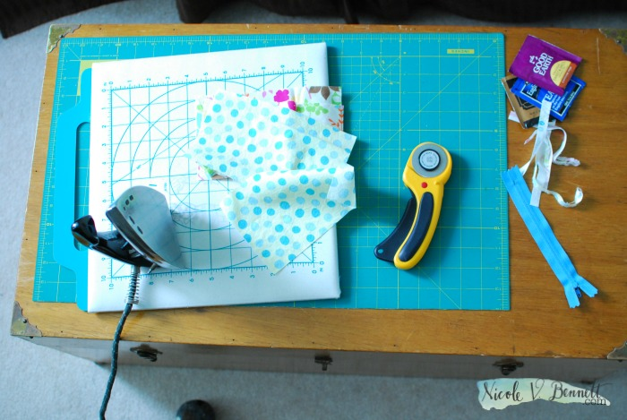 sewing setup in a small space