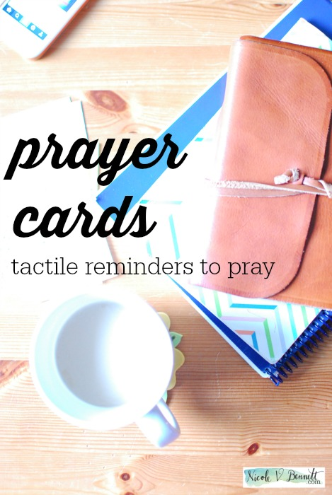 prayer cards- tactile reminders to pray