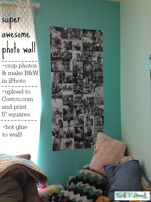super awesome photo wall
