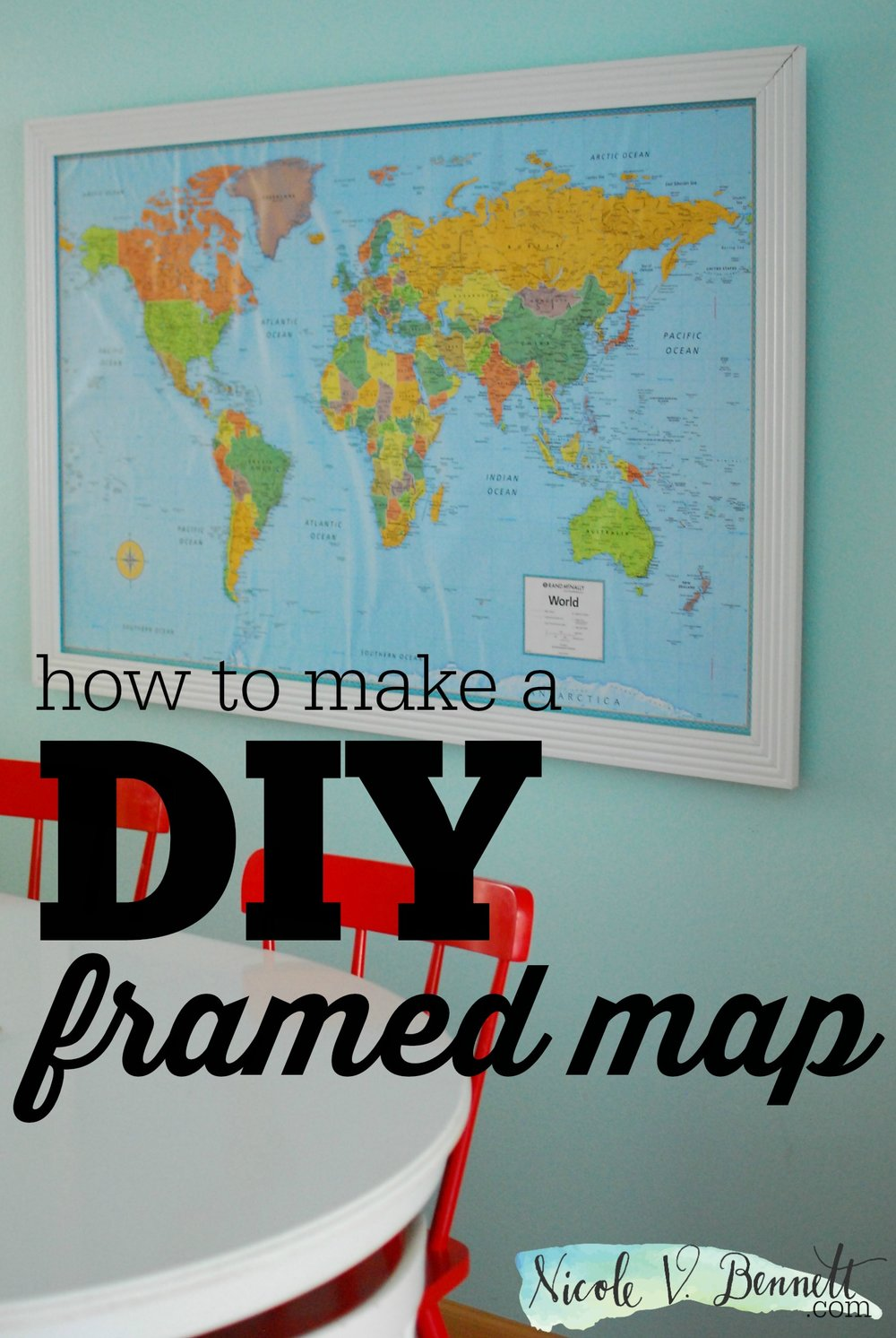 how to make a DIY framed map