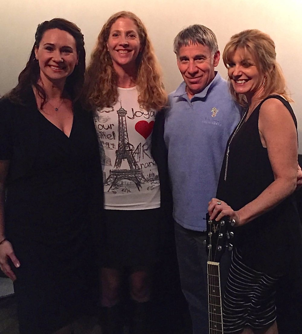The writers with musical theater legend Stephen Schwartz at the 2015 ASCAP Musical Theater Workshop performance of   City of Light  .