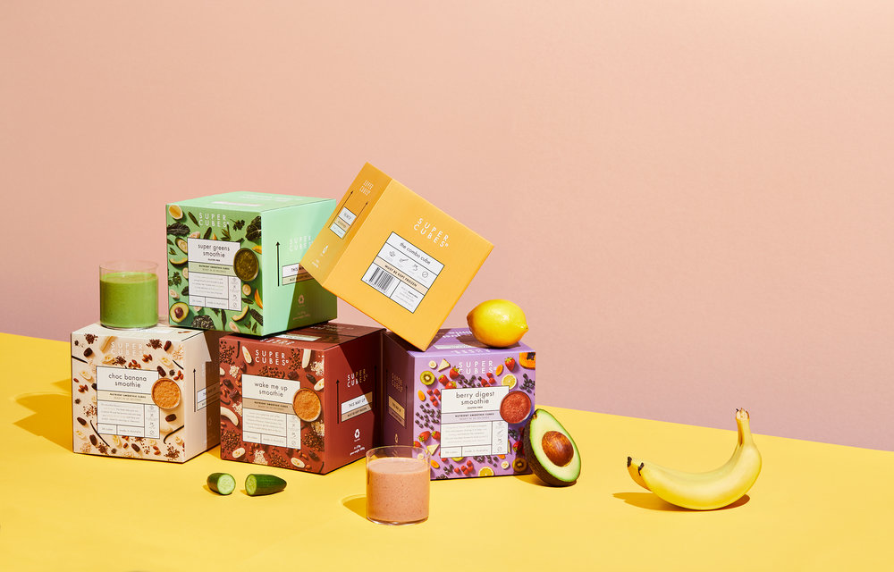 Super Cubes shot by Sydney advertising food and lifestyle photographer Benito Martin