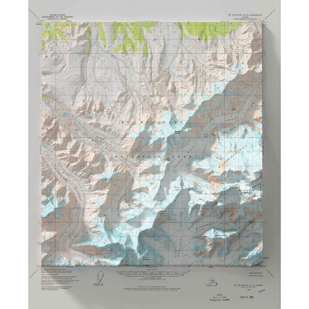 Denali Alaska Scott Reinhard Maps - Mt-mckinley-on-us-map