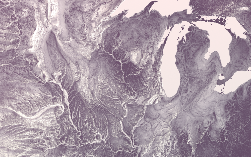 Detail of the upper Midwest.