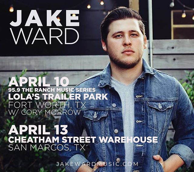 Got a couple shows this week starting on Wednesday at @lolastrailerpark with @corymorrowband #jakewardcountry #texascountry