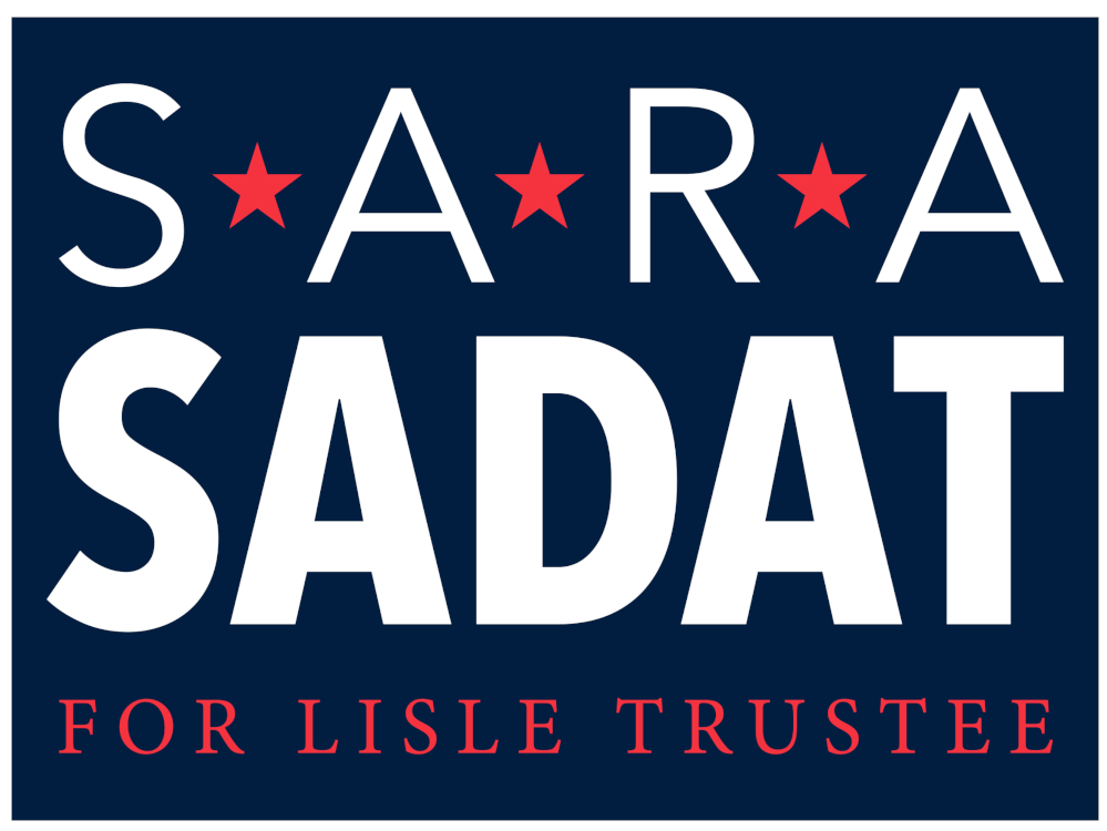 Sara Sadat for Village of Lisle Trustee :  Vote April 2nd 2019
