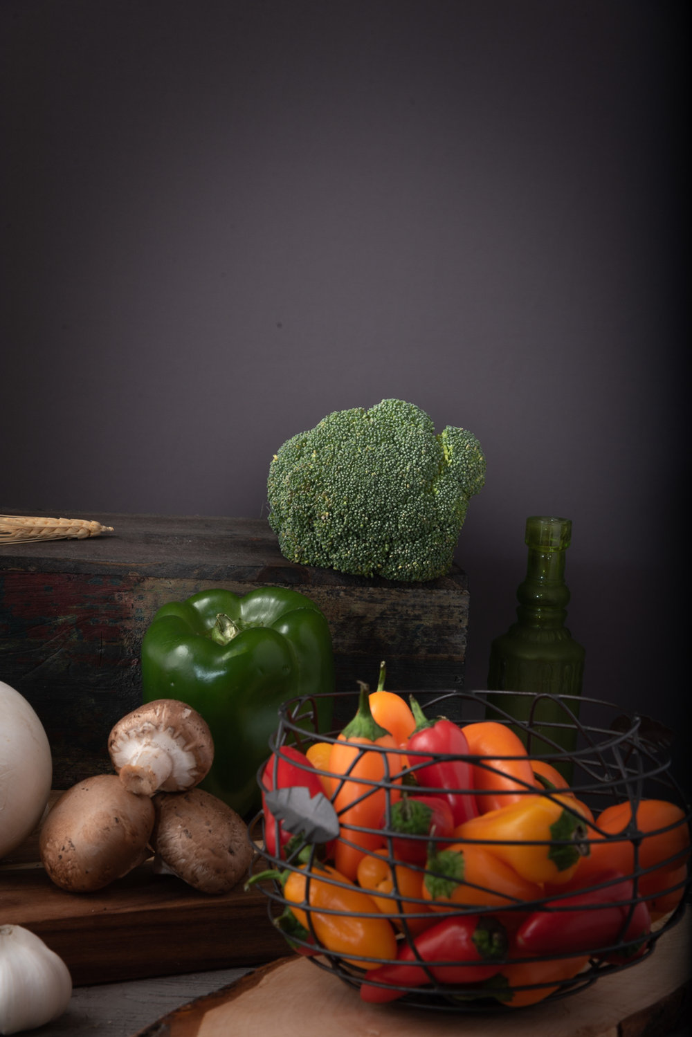 Cosentino Commercial Photography- Vegetables table top session