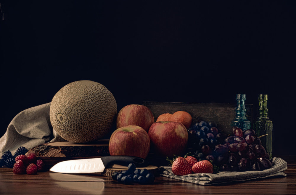 Fruit table top, cosentino Commercial Photography