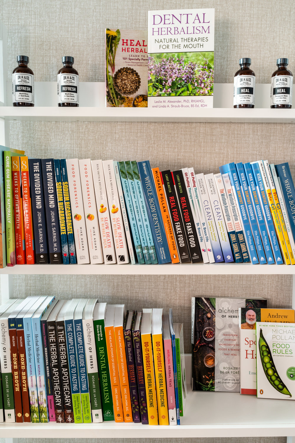 Total Health lending library at each office.
