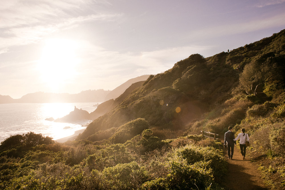 Marin Headlands Engagement Session - Black Sands Beach hike