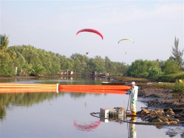 Aerial surveillance of oil spill.JPG