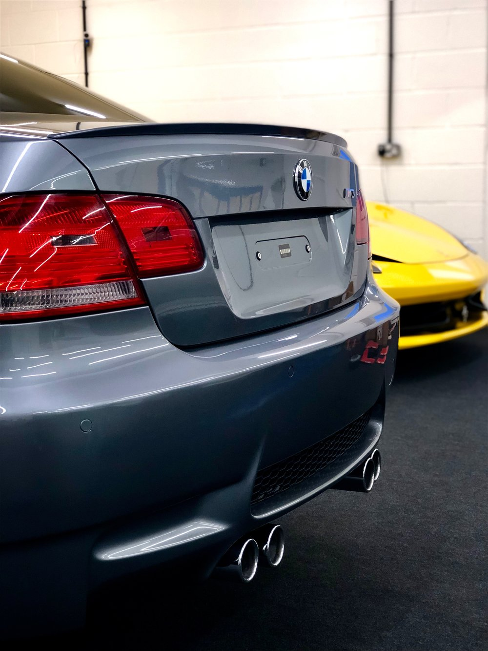 BMW E92 M3 curing after its Level 2 correction, enhancement and protection package