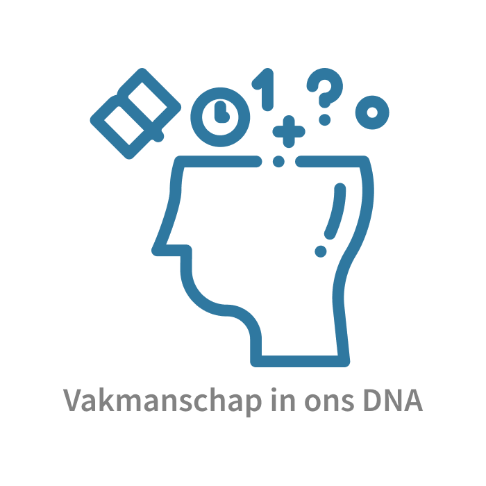 Vakmanschap in ons DNA. Kennis is macht en kennisdeling is kracht.