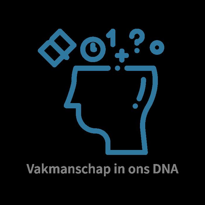 Vakmanschap in ons DNA. Kennis is macht en kennisdeling is kracht.