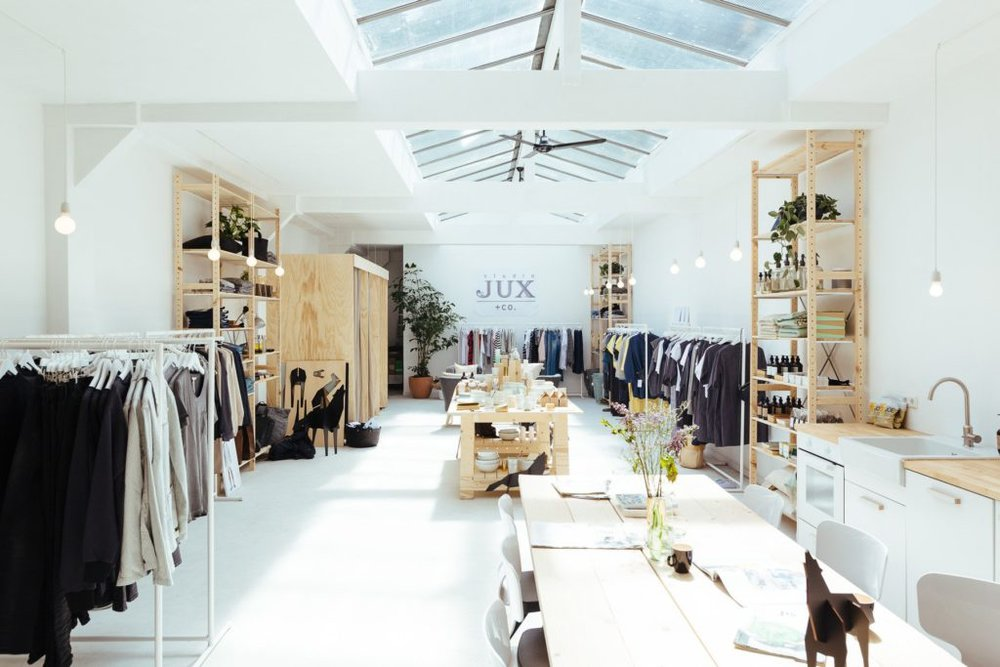 STUDIO JUX - Studio JUX is a fair fashion brand from Amsterdam, which opened a store where next to their own collection you'll find a wide assortment of well-designed products that are made sustainably and ethically.Ceintuurbaan 252, Amsterdam