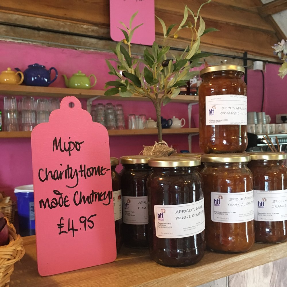 Gorgeous homemade chutneys from local charity HFT