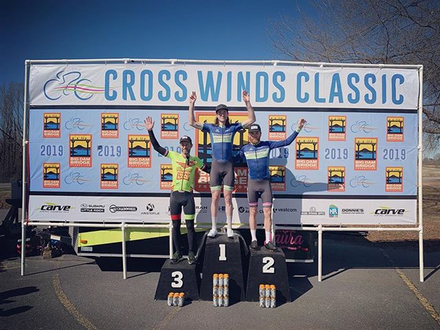 EVOQ.BIKE athlete @johnny_purvis on the podium with his @dnaracing teammate @tanner.j.ward! We're excited to see his file later today as they made the early break together, and then shredded it to pieces. Great job guys! #cycling #podium #winning #motivation #inspiration #bike
