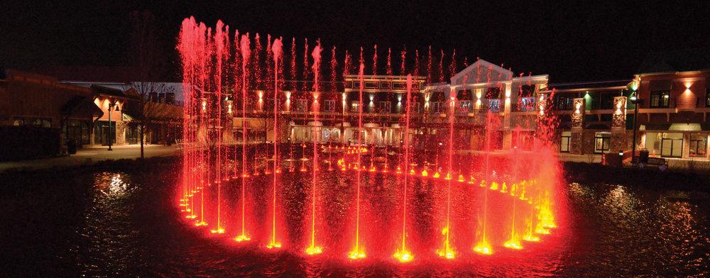 Fontaines et lacs - Des œuvres d'art à couper le souffle créées à partir d'eau et de lumière.