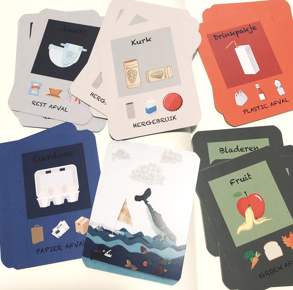 KwartetSpel Sample als voorbeeld voor een spel voor de jongere groepen op school