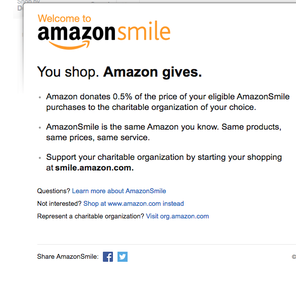 Shop with Amazon Smile - Sign up to for Amazon Smile and donate to Graduation Celebration while you shop!