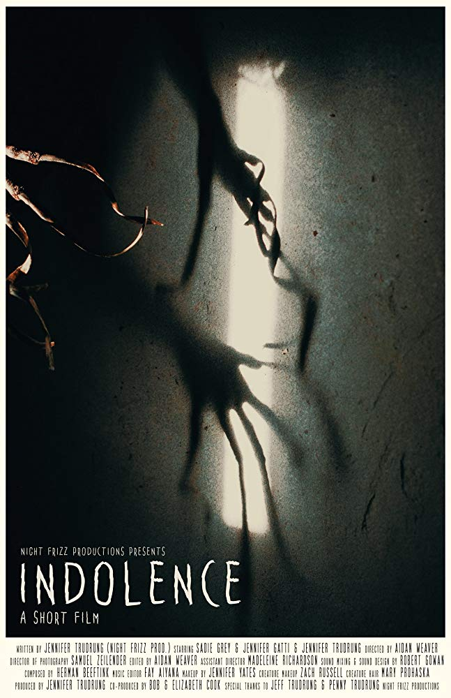 'Indolence' by Jennifer Trudrung. TBA 2019. -  On Set Audio,   Post-Sound, & Foley.