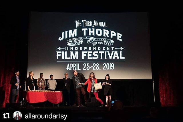 So proud of 'Period.' and excited to share it with the world soon!  #Repost @allaroundartsy ・・・ Wow, what a weekend at @jimthorpeindiefilmfestival! Period. won Best Experimental Film and I was nominated for Best Director!I am absolutely in love with the town of Jim Thorpe... from @mcoperahouse to the Stabin Museum...I met so many beautiful souls, shop & restaurant owners, artists... this town is truly beaming with magic. I sense a lot more of Jim Thorpe in my future. Major congrats to the other winners! It was such a pleasure to meet @catyaplate (winner of Best Animation) and@pololiafilm (winner of Best Short Film). Go female filmmakers!! Thank you so much to the founders of the festival Jocelyn & Todd. Still basking in the magic of it all... 🎬❤️✨ #filmmaking #filmdirector #indiefilm #productioncompany #femalefilmmaker #womeninfilm #directedbywomen #asheville #ncfilm #ashevilleart #director #allaroundartsy #roadtrip #filmfestival #adventure #travel #winner #experimental #pennsylvania #jimthorpe #jtiff
