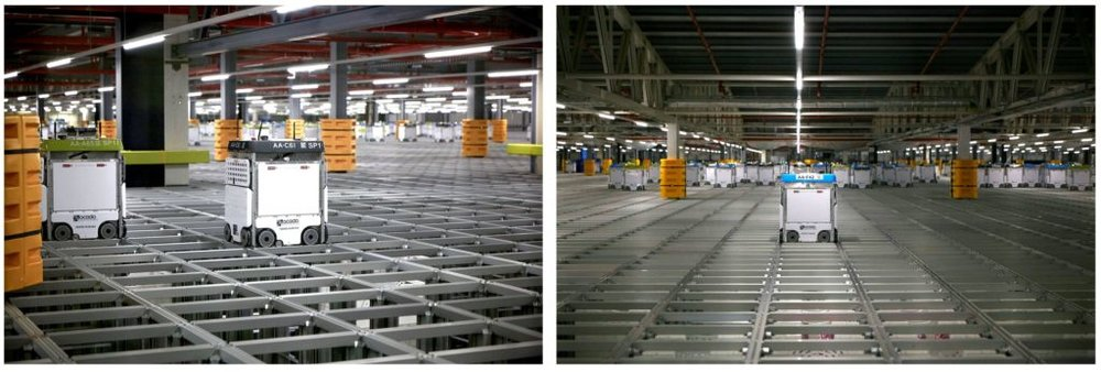 The two photographs of Ocado's Andover CFC3 that were entered into the EEF competition