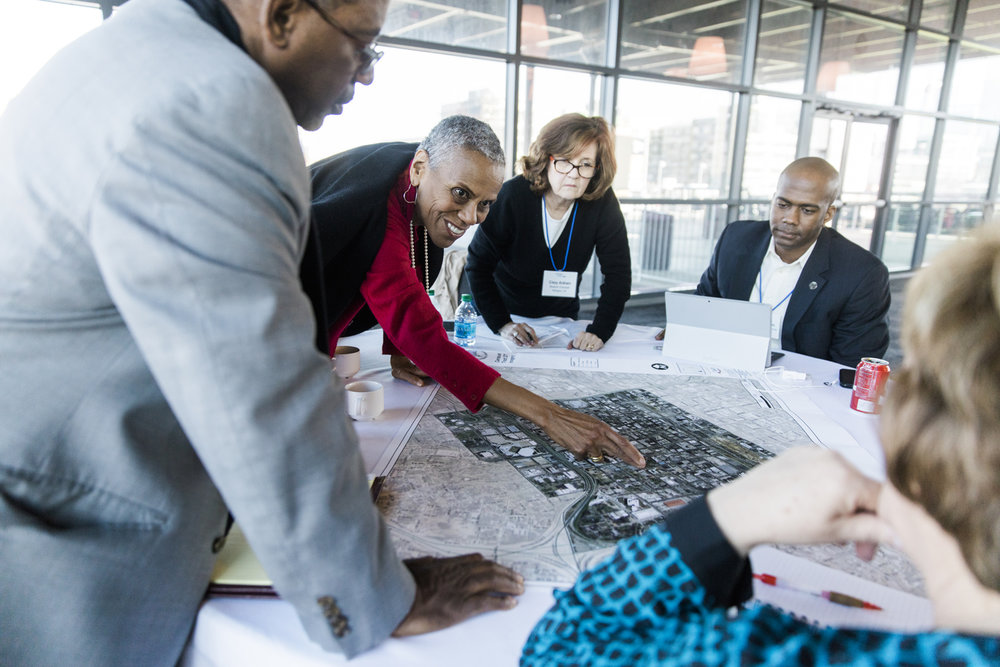 A stakeholder engagement session as a part of our work in Birmingham, Alabama in 2017