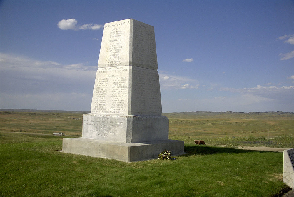 Modern Memorial on Last Stand Hill