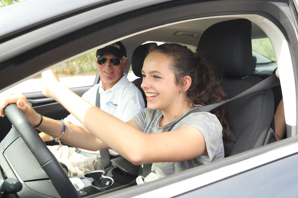 "THE PROGRAM - Young drivers are put in ""panic"" situations in a safe environment on a closed course with professional driving instructors."