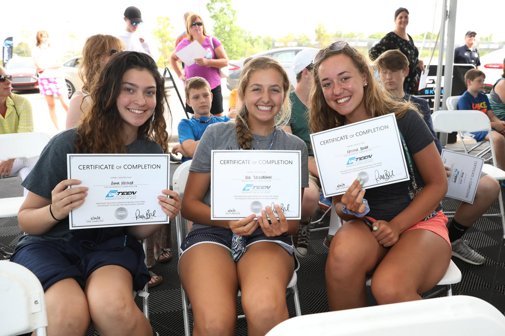 certificates of completion - Each teen completing the Teen Street Skills program will be presented with a Certificate of Completion, branded with the Program Sponsors logo. These certificates will be kept by program participants as in the future they will be required to present to auto insurers in order for that teen to receive a discount on their auto insurance premiums.